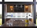 1000mm Wide Chrome Wine Rack